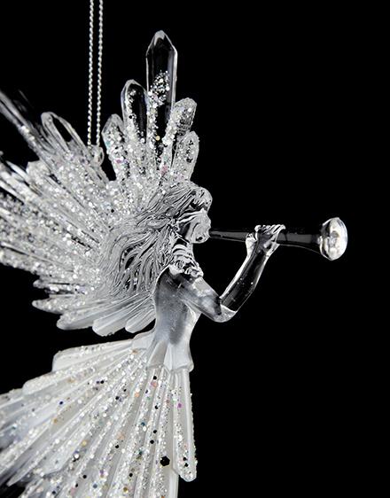 Anjel transparentný 16 5cm