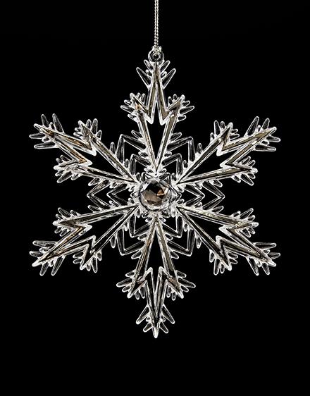 Snehová vločka akryl 13 5 cm