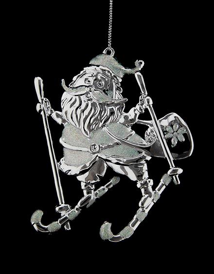 Santa na lyžiach 10x11cm