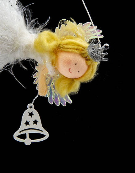 Anjel ležiaci  so zvončekom 15cm