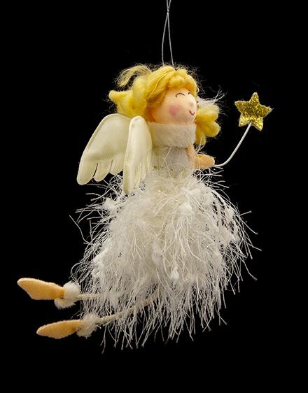 Anjel so zlatou hviezdou 13cm